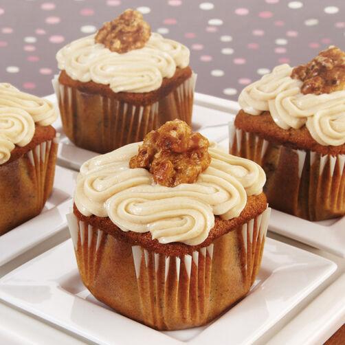Banana Walnut French Toast Cupcakes