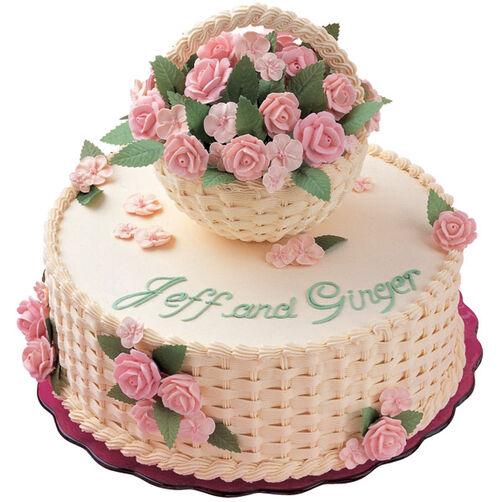 A Budding Romance Cake