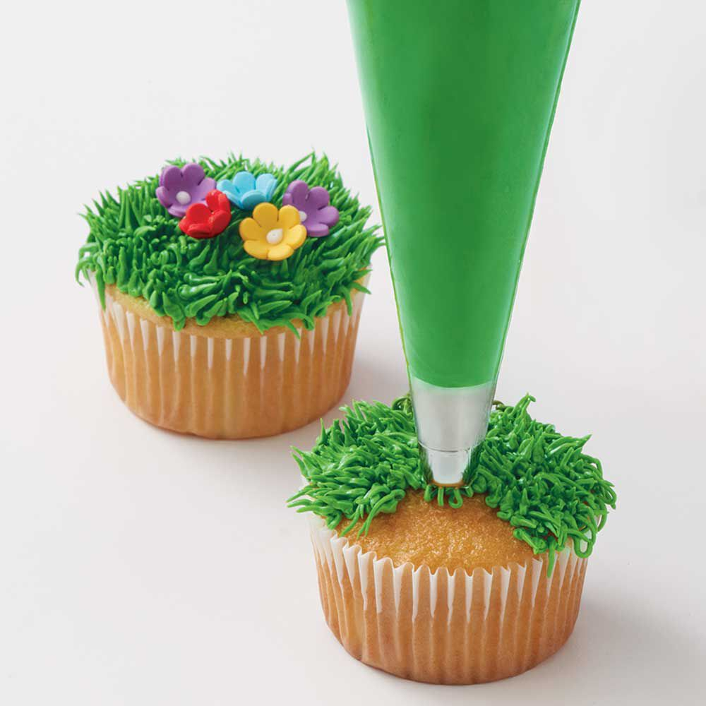 how to pipe grass - Cake Decorating