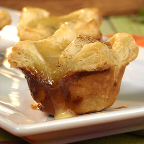 Pear and Brie Honey Tartlets
