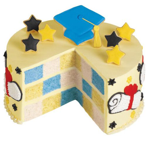 Pomp and Circumstance Checkerboard Cake