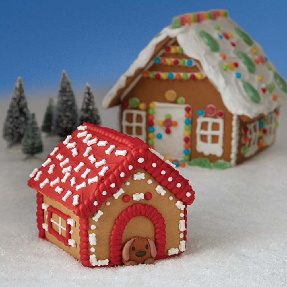 Best Christmas Decorations Long Island: A Puppy For Christmas Gingerbread Doghouse