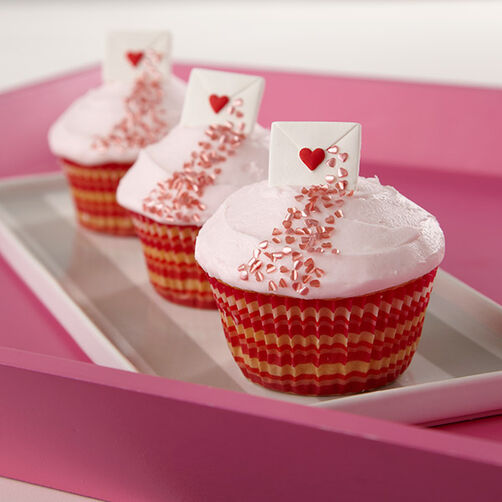 One Sweet Love Letter Cupcakes