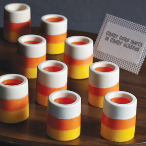 Halloween Party Ideas - Candy Corn Shot Glasses