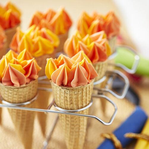 Ice cream cone cake torches wilton - Creme decoration cupcake ...
