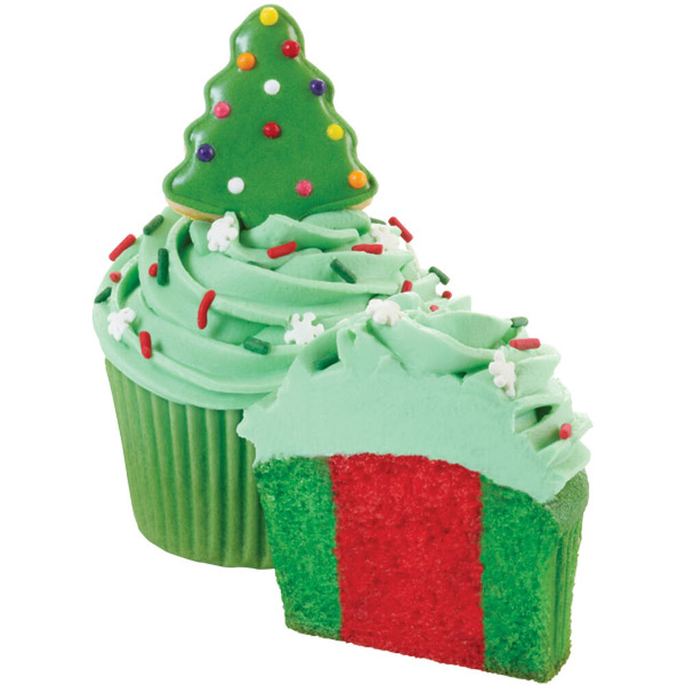 Christmas Tree Muffins: Tree Dazzled Cupcakes