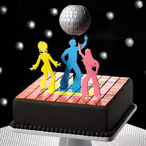 1970s Fondant Cake: Get Down to Disco