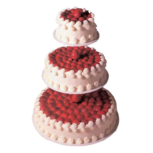 3 Tier Wedding Cheesecake Wilton