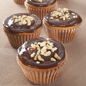 Peanut Butter Cupcakes with Milk Chocolate Glaze