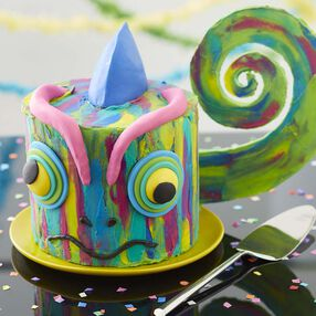 Colorful Chameleon Cake