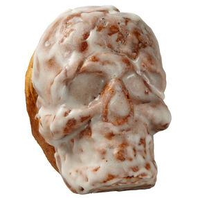 Gooey Gruesome Mini Skull Cinnamon Rolls