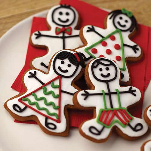 Stick People Gingerbread Cookies