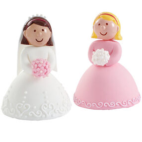 Bride and Her Bridesmaid Mini Cakes
