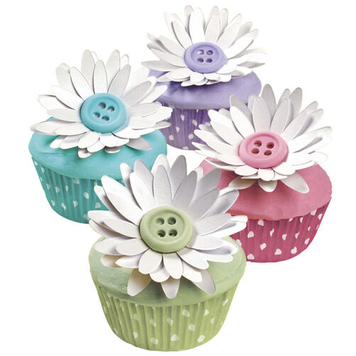 Buttoned Up Blossom Cupcakes