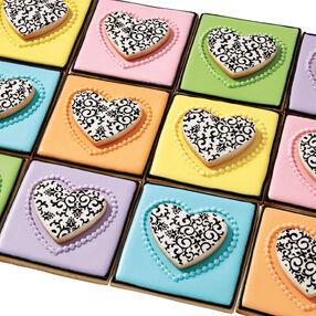 Damask Valentine Cookies