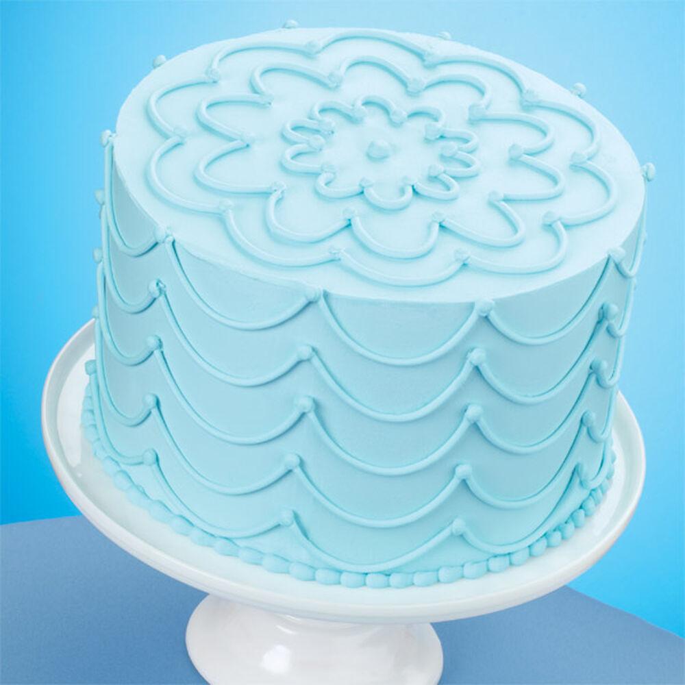 Sky Blue Cake Images : Stunning Strings Sky Blue Cake Wilton
