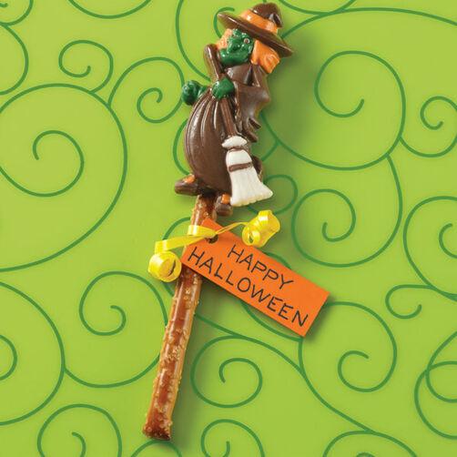 Witch Favor Candy Pretzel Pops