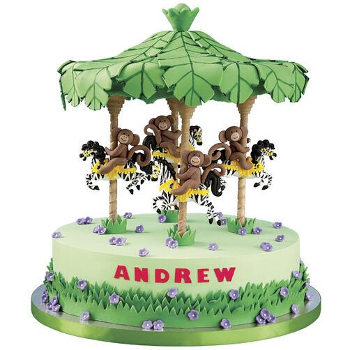 Monkey-Go-Round Canopy Cake