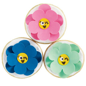Winking Flowers Cookie