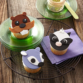 Forest Friends Fondant Cupcakes