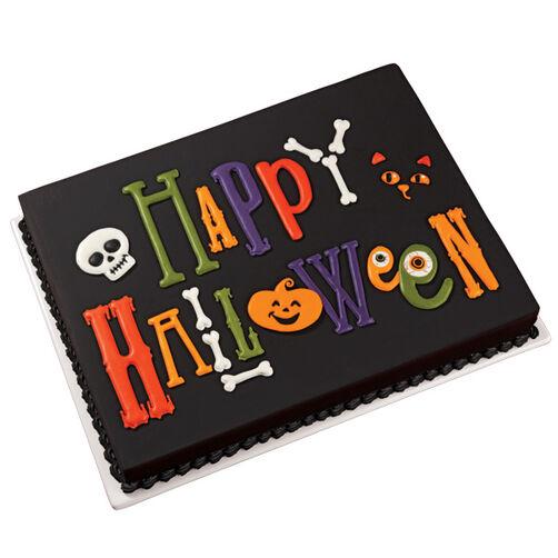 Easy Happy Halloween Cake