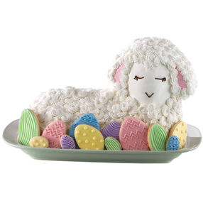 Fanciful Lamb Cake and Easter Egg Cookies