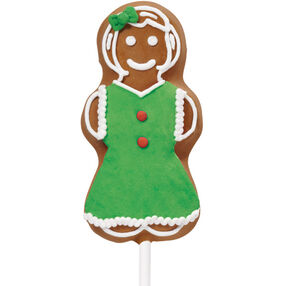 Gingerbread Girl Cookie Pop