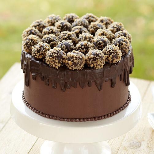 Chocolate Truffle Cake Decoration Ideas : Truffle-Topped Cake Wilton