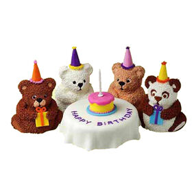 Bear's Birthday Mini Cakes