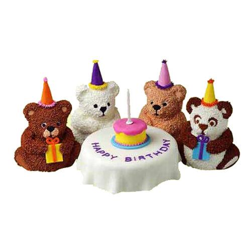 Bear's Birthday Mini Cakes
