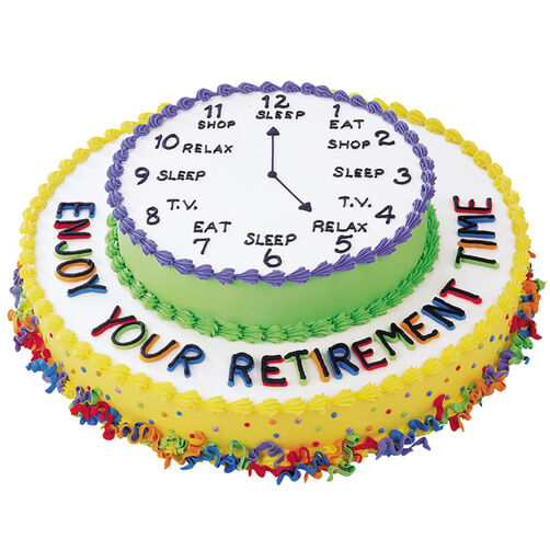 Enjoy Your Retirement Cake Wilton