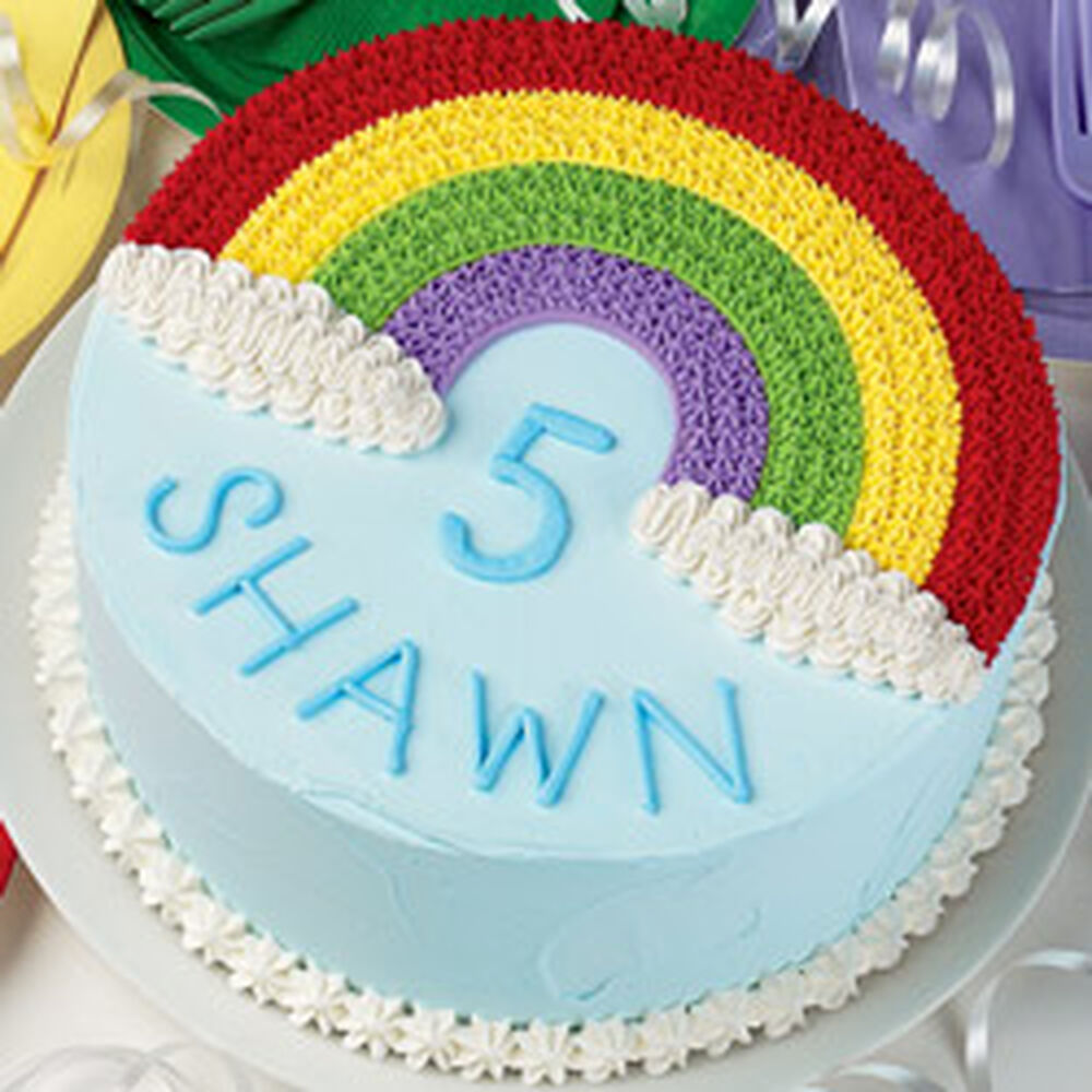 Birthday Cake Rainbow Design : Transferring Patterns Wilton