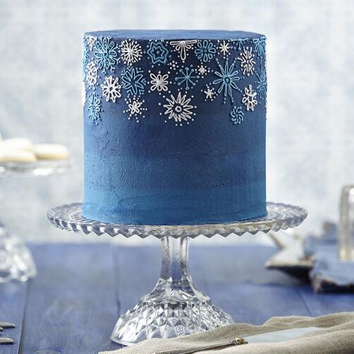 Snowfall Celebration Buttercream Cake Wilton