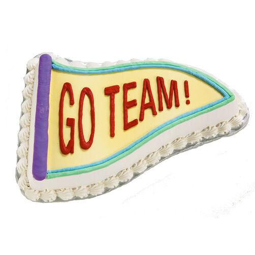 Go Team Pennant Cake