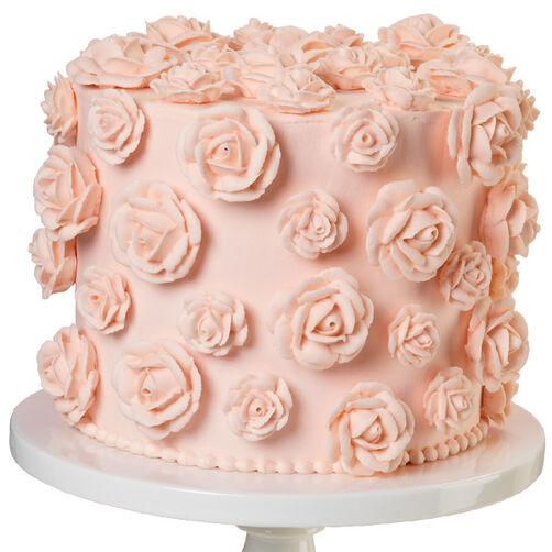 Peachy Petals Rose Cake