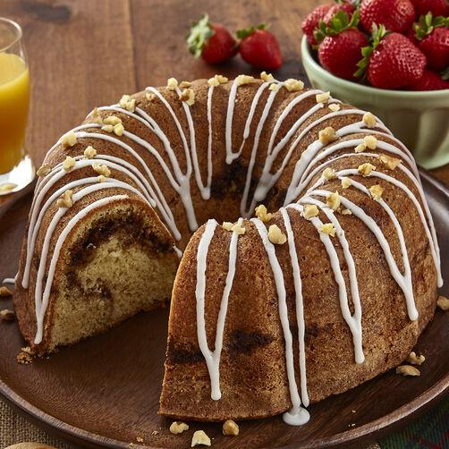 Cinnamon Walnut Swirl Coffee Cake