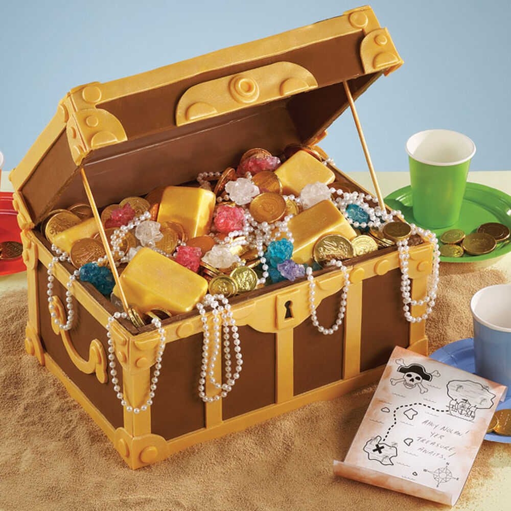 Treasure Chest Decorations How Pirates Party Cake Wilton