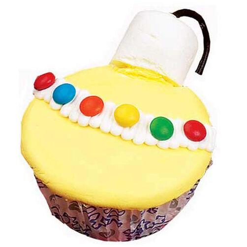 Elegant Ornament Cupcakes