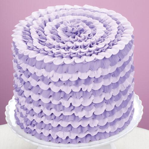 Ruffle Tips Cake Decorating