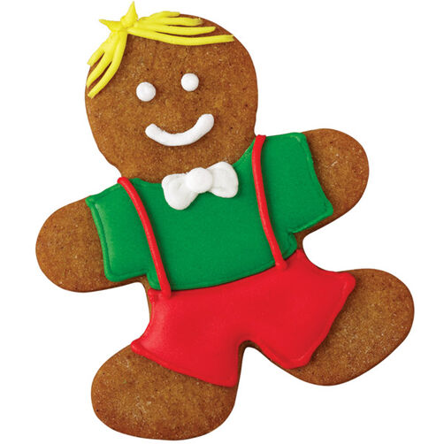 Dashing Gingerbread Boy Cookie