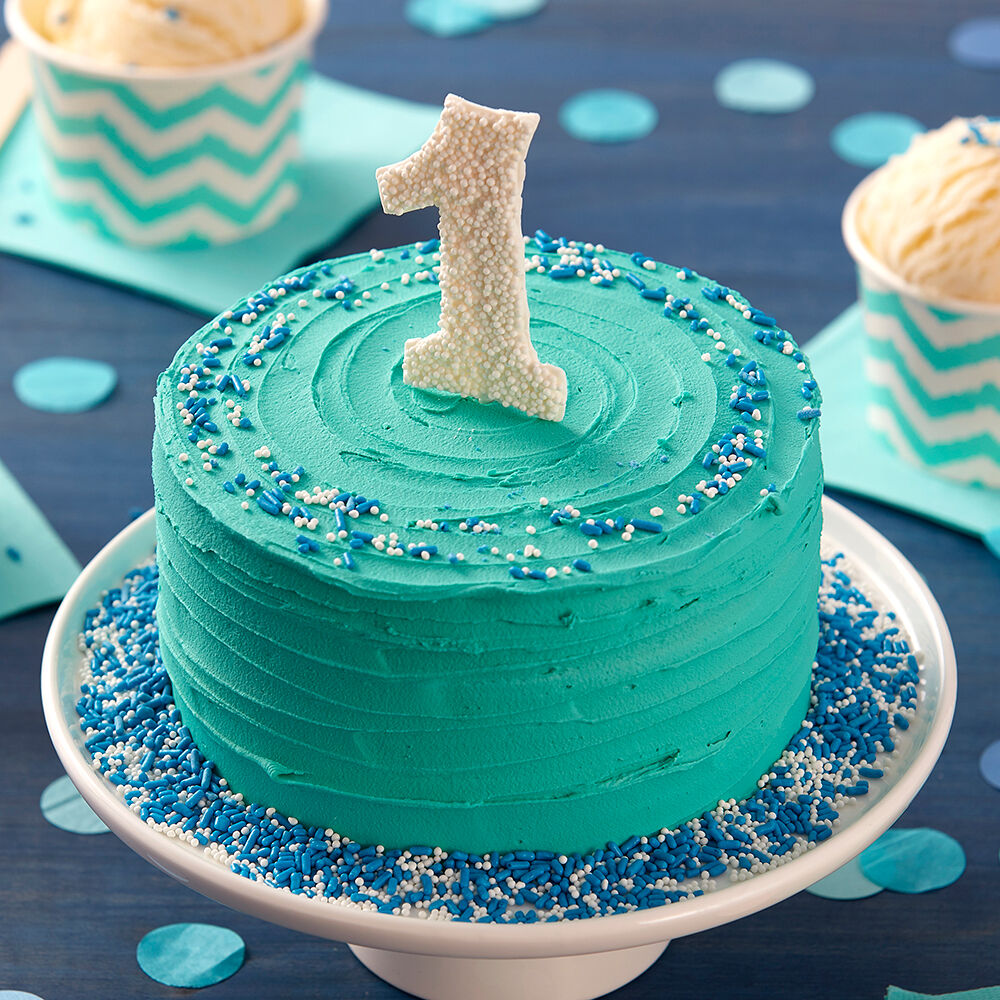 Happy First Birthday Smash Cake | Wilton