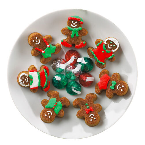 Boy and Girl Gingerbread Bites Mini Cakes