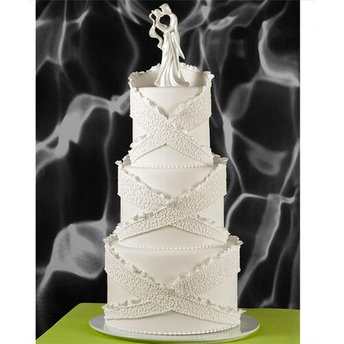 Criss-Cross Cornelli Wedding Cake