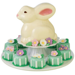Bunny and Bouquets Mini Cakes