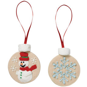 Edible Christmas Ornament Cookies