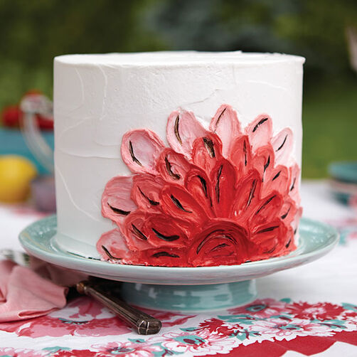 Painted Buttercream Cake Wilton