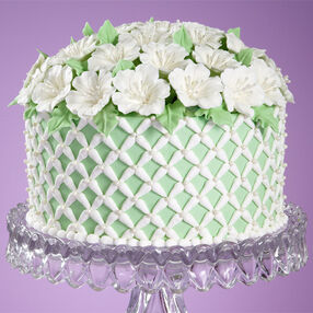 Plush Petunia Garden Cake