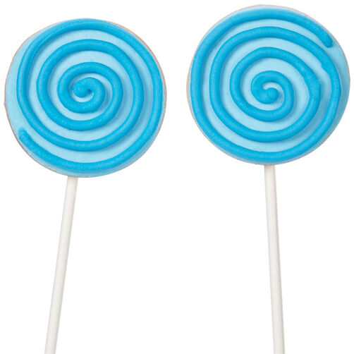 Swirly Blue Cookie Pop