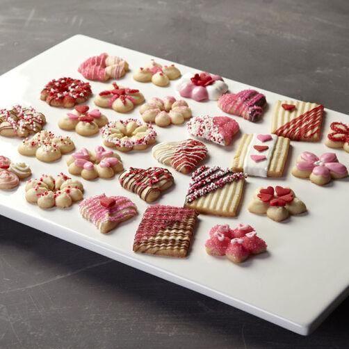 Valentine?s Day Spritz Cookies