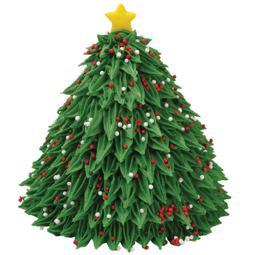 How To Decorate Wilton Christmas Tree Cake